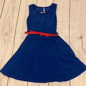 Love Nation Blue Flare Dress Size Small